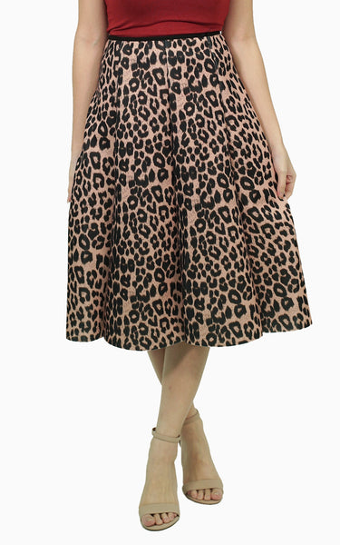 Leopard structured skirt