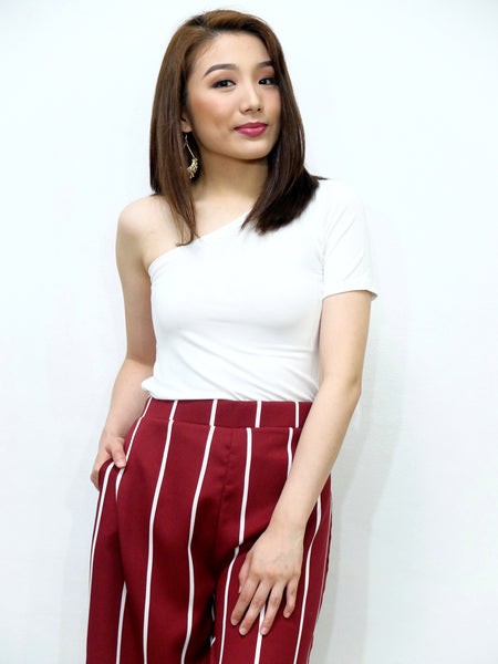 white sided tee top