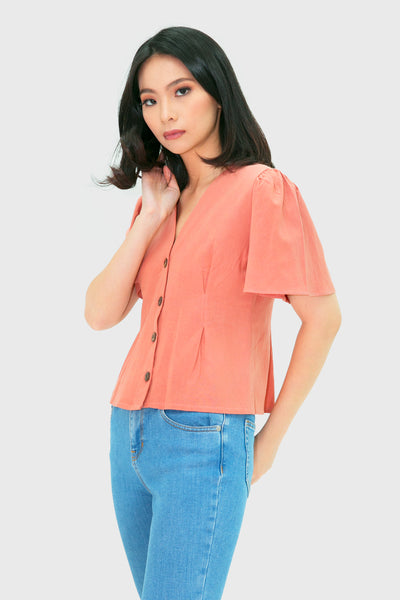 Blush sided short sleeve