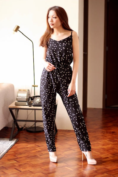 Black polka dot jumpsuit