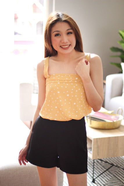 Yellow polka dot sleeveless
