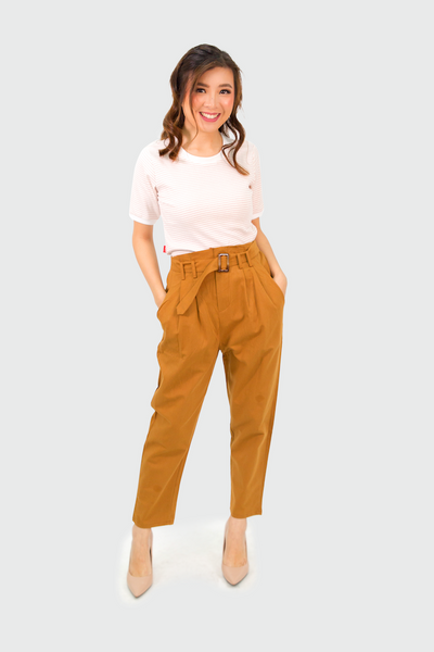 Brown Trouser with Catcha Belt