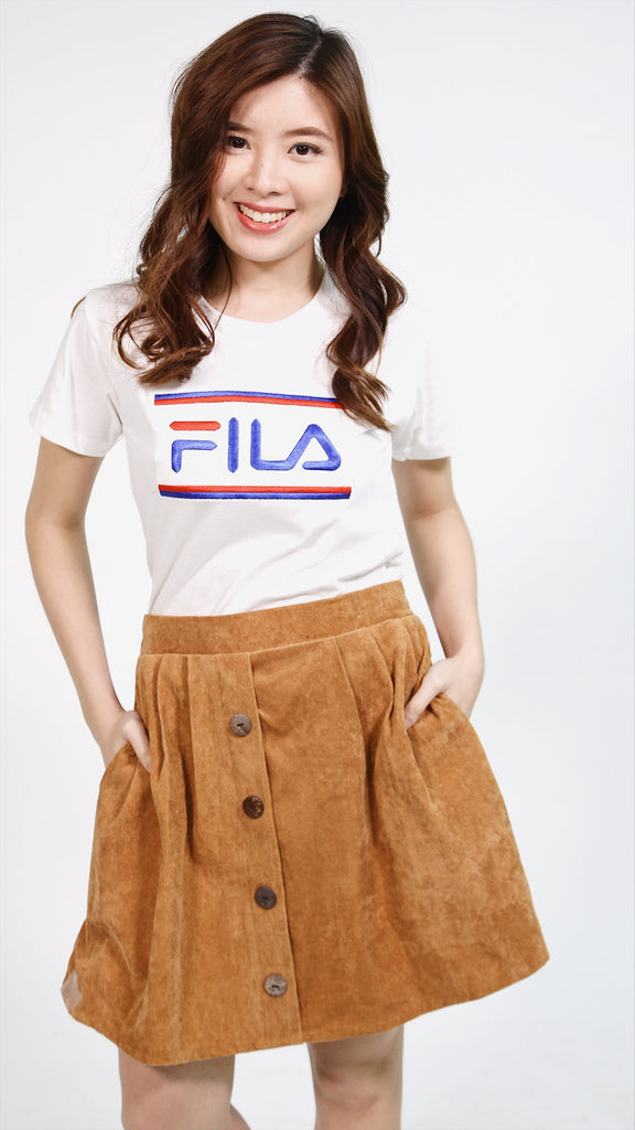 Fila embroidered lines shirt