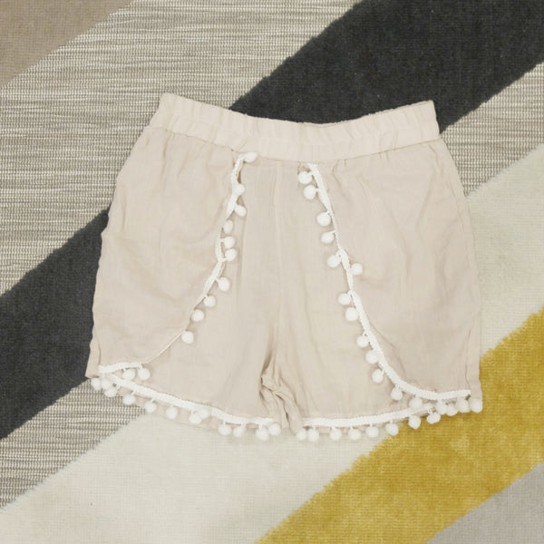 Cream tassel shorts