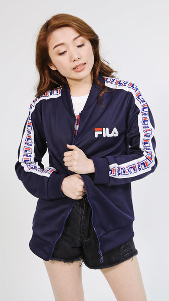 Navy blue fila jacket