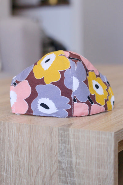 Graphic Floral Mask- Brown