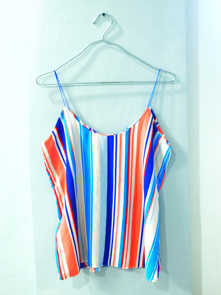 Stripes chiffon spag top