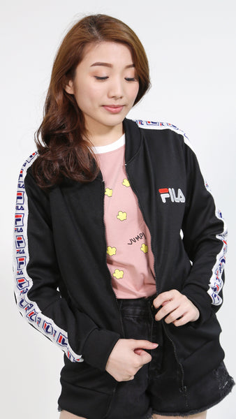Black fila jacket