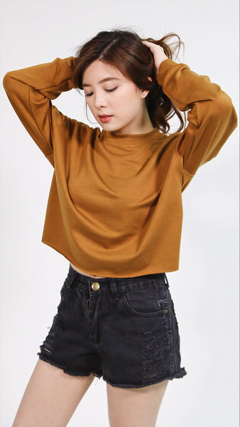 Brown hanging pullover