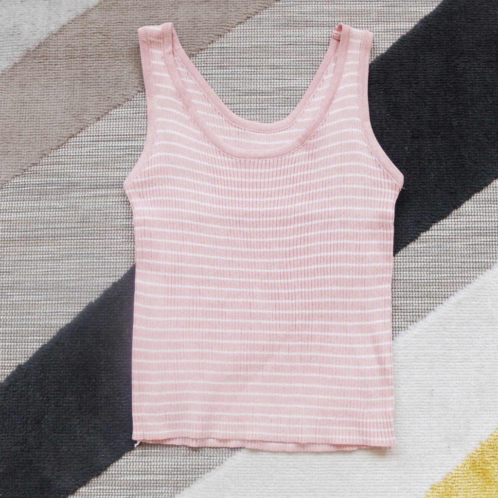 Pink knit sleeveless