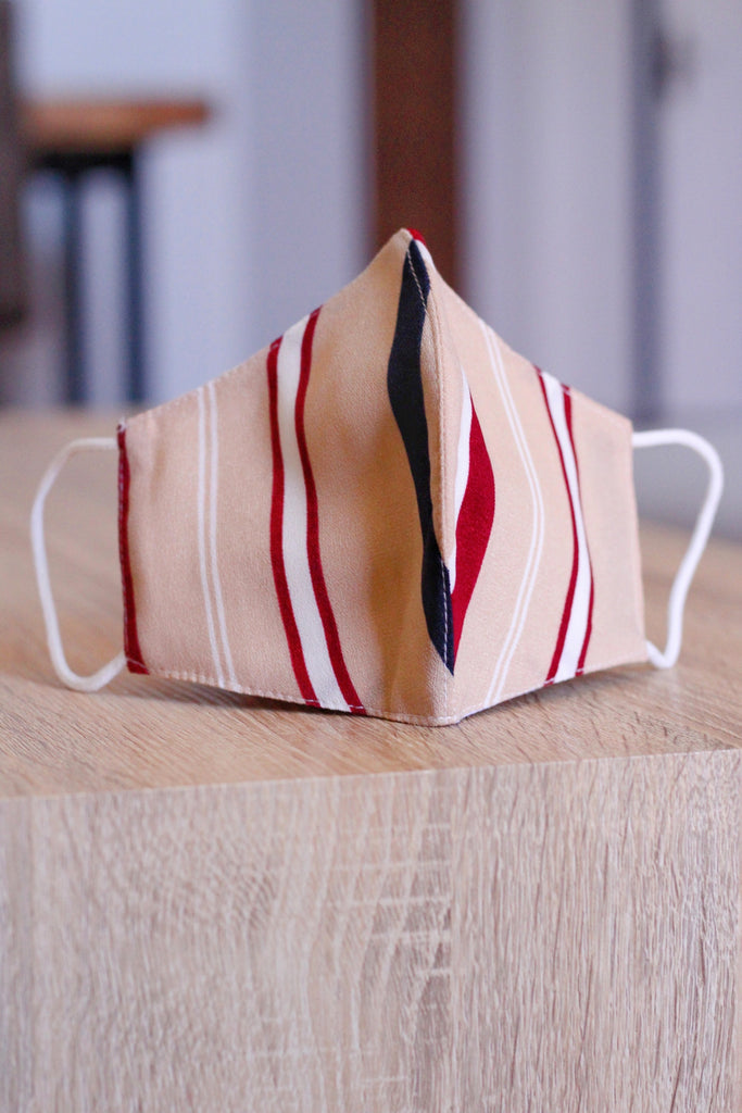 Premium Linen Mask- Dual Stripes