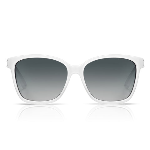Sunglassjunkie White Rock 'N' Roll Wayfarer Sunglasses