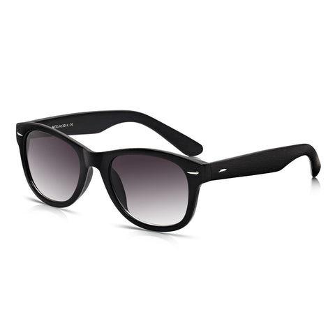 Sunglassjunkie Black Glastonbury Wayfarer Sunglasses
