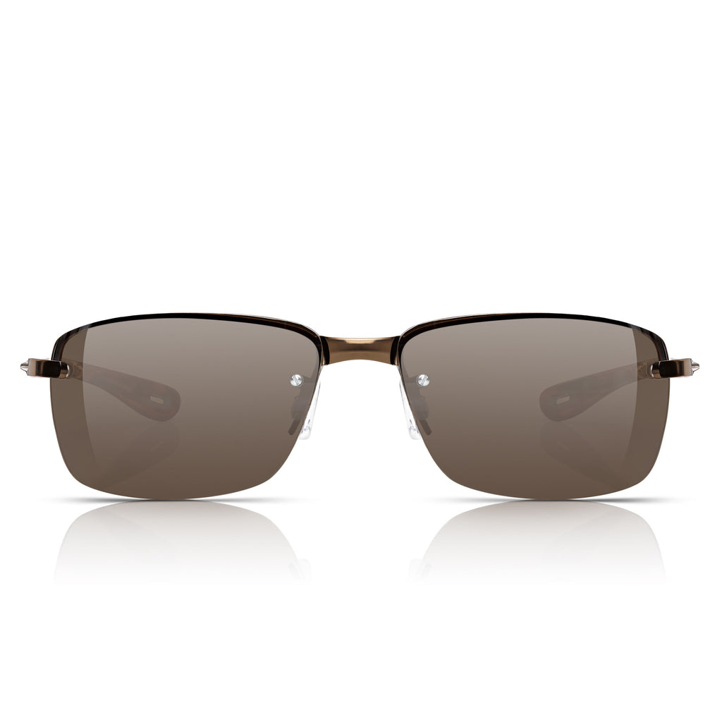 Sunglassjunkie Bronze Rimless Sport Sunglasses