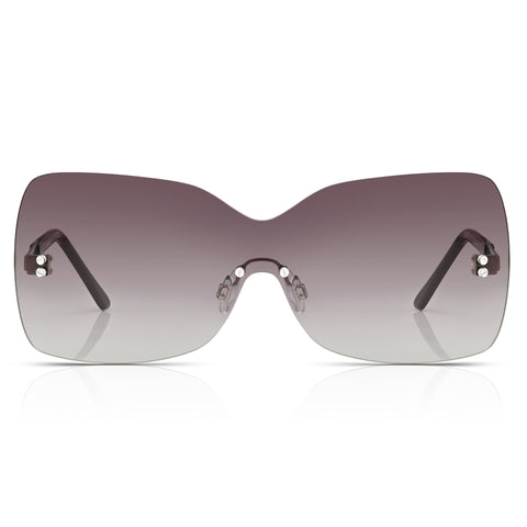 Sunglassjunkie Smoke One Piece Visor Shield Sunglasses
