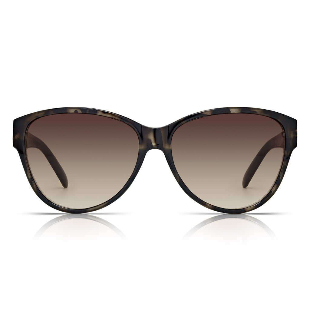 Sunglassjunkie Tortoiseshell Oversized Cats Eye Chain Link Sunglasses