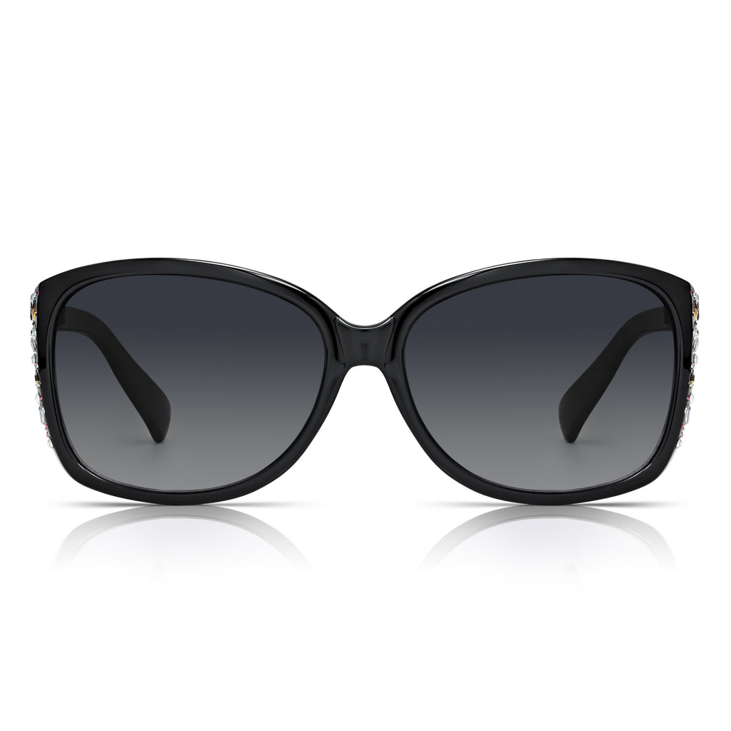 Sunglassjunkie Black Jewel Decorated Sunglasses