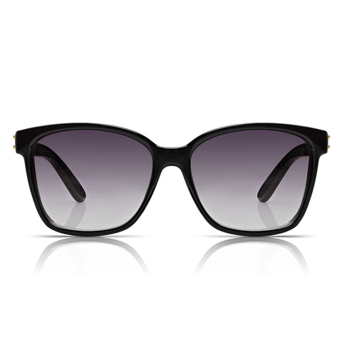 Sunglassjunkie Black Rock 'N' Roll Wayfarer Sunglasses