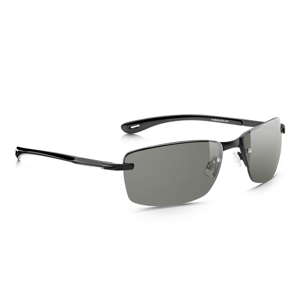 Sunglassjunkie Black Rimless Sport Sunglasses