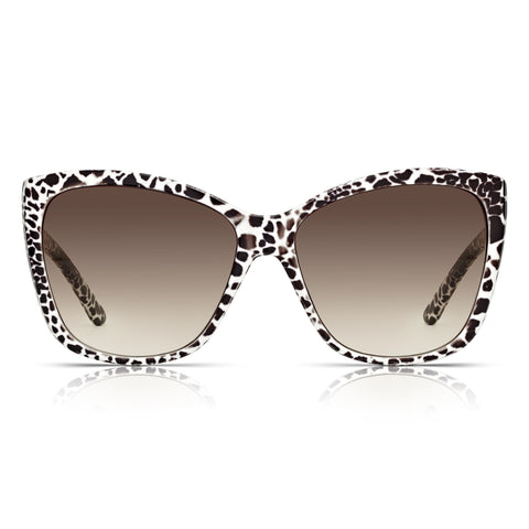 Sunglassjunkie Animal Print Oversized Sunglasses