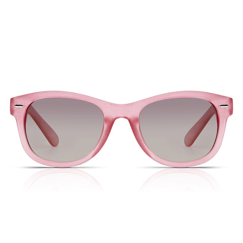 Sunglassjunkie Crystal Pink Glastonbury Wayfarer Sunglasses