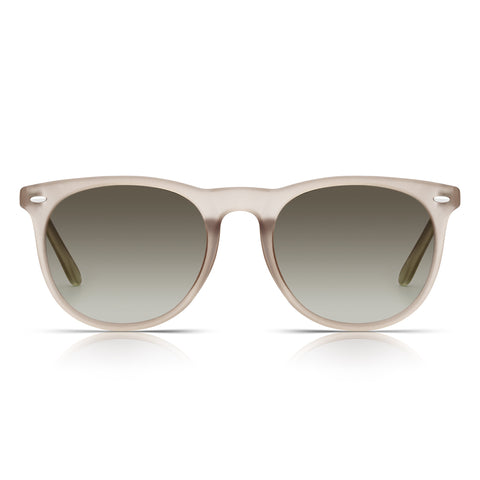 Sunglassjunkie Brown Crystal Preppy Round Sunglasses
