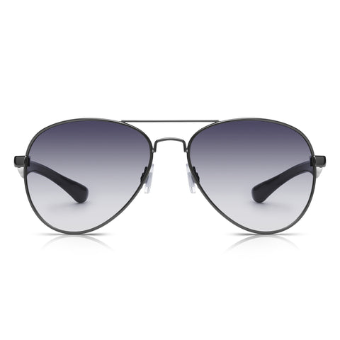 Sunglassjunkie Gunmetal and Black Aviator Sunglasses