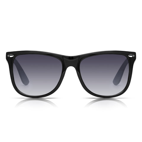 Sunglassjunkie Black & White Oversized Wayfarer Sunglasses