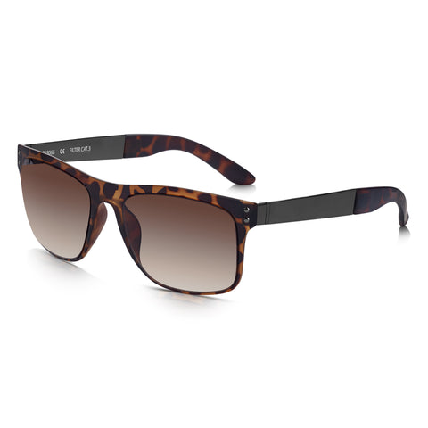 Sunglassjunkie Brown Tortoiseshell Sports Wayfarer Sunglasses