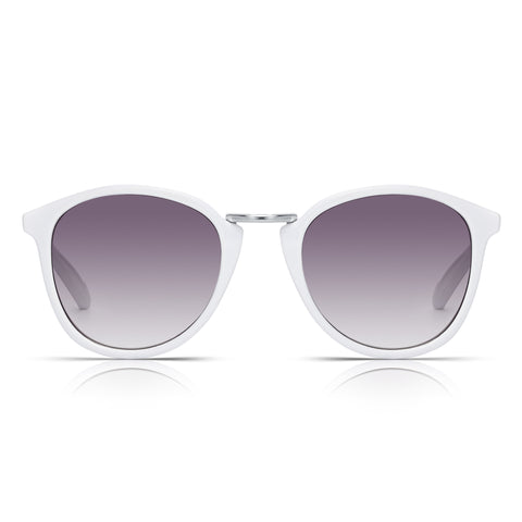 Sunglassjunkie White Retro Round Sunglasses