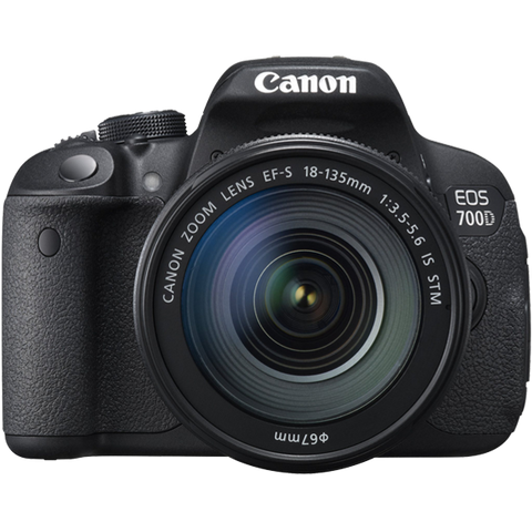 Canon EOS 700D Kit mit EF-S 18-135mm f/3.5-5.6 IS STM Objektiv Schwarz Digital SLR Kamera