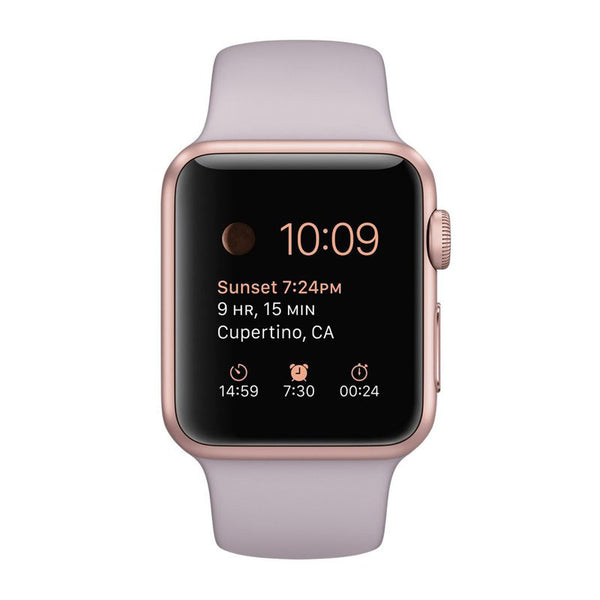 Apple Watch Sport 38 mm Rose Gold Aluminumhülle MLCH2 (Lavendel)