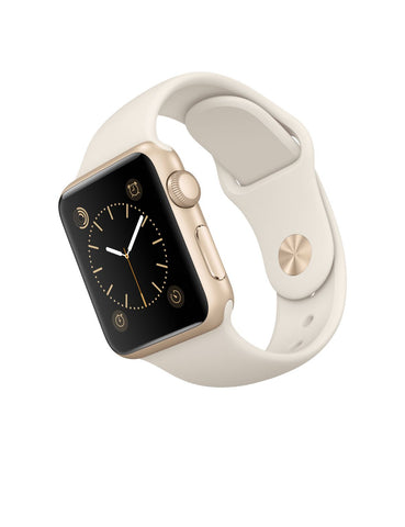 Apple Watch Sport 38mm Gold Aluminum Hülle MLCJ2 (Weiß)