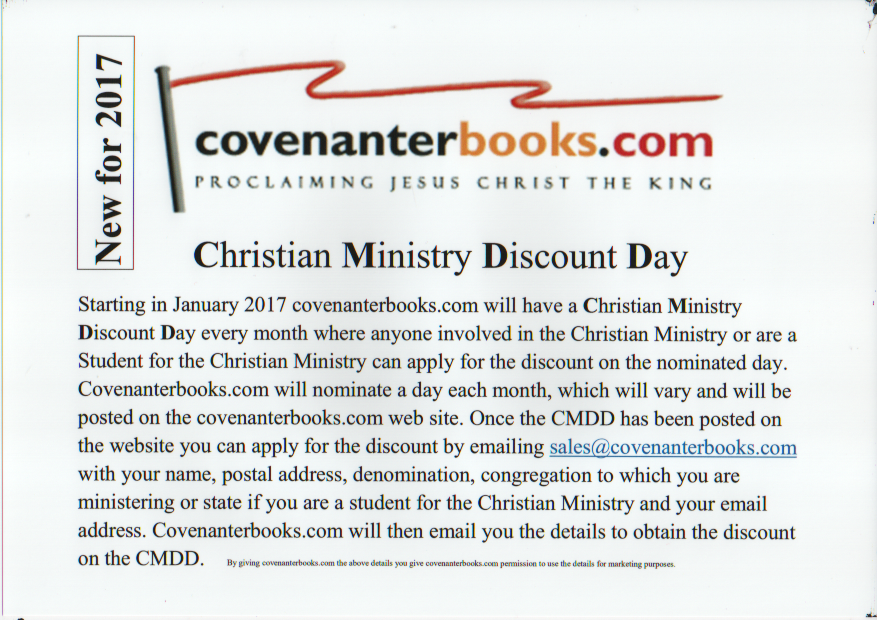 Welcome to Covenanter Books