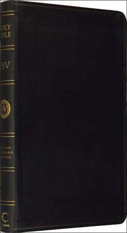 Holy Bible:  English Standard Version (ESV) Anglicised Black Leather Thinline Edition