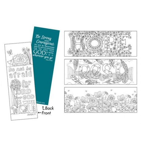 Images of Grace Bookmarks: 10 Different designs to colour (VAT will be charged on this product at checkout.)
