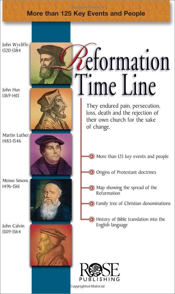 Reformation Time Line (pamphlet)