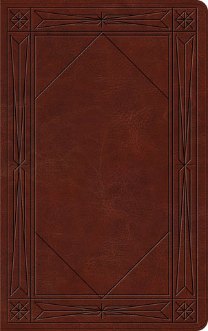 ESV Thinline Bible (TruTone, Brown, Window Design)
