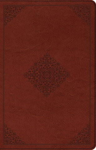 ESV Large Print Thinline Reference Bible (TruTone, Tan, Ornament Design)