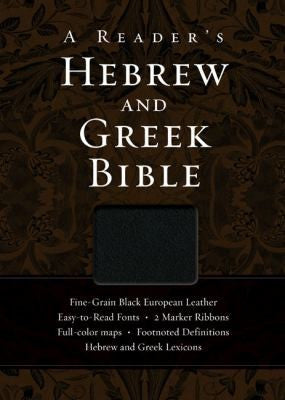 A Reader's Hebrew and Greek Bible: Fine-Grain Black European Leather