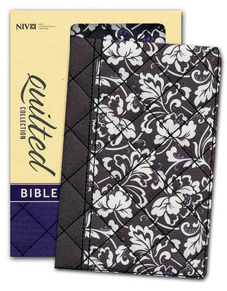 Holy Bible: New International Version, Black Floral Flexcover, Quilted Collection Bible