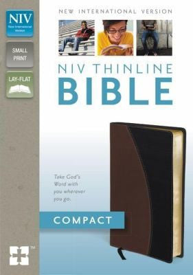 Holy Bible New International Version Tanblack Italian Duotone Thinline Bible Compact