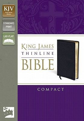King James Version Thinline Bible, Compact: King James Version, Black, Bonded Leather, Thinline