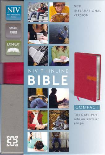NIV Thinline Bible: New International Version, Thinline, Hot Pink / Clementine, Italian Duo-Tone, Small Print, Lay-Flat
