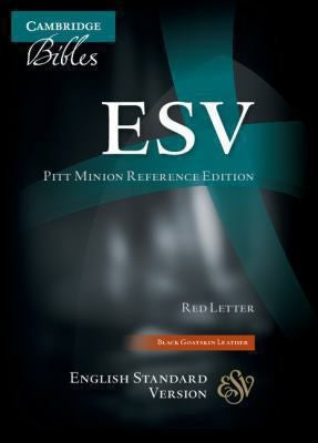 ESV Pitt Minion Reference Edition ES446: XR black goatskin leather