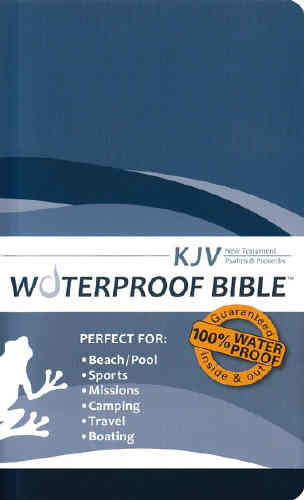 Waterproof New Testament With Psalms And Proverbs-Kjv-Blue Wave