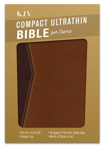 Compact Ultrathin Bible for Teens-KJV: King James Version, For Teens, Ultrathin, Walnut Leathertouch