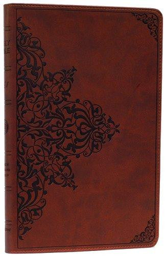 ESV Thinline Bible: English Standard Version, Nutmeg, Filigree Design, Red Letter