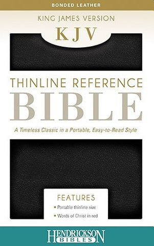 Thinline Reference Bible-KJV: King James Version, Black, Bonded Leather, Thinline Reference, End of Verse Reference Edition