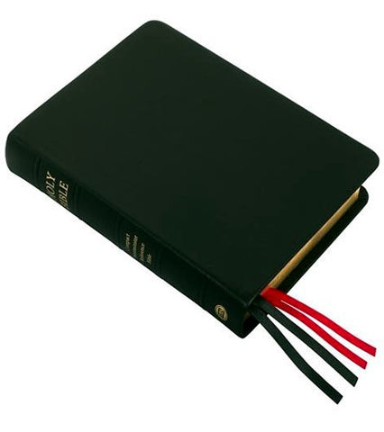 KJV Compact Westminster Reference Bible Black Premium Leather